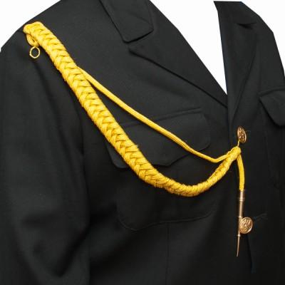 Аксельбант солдатскийй с 1 наконечником, желтый (6-1-003)