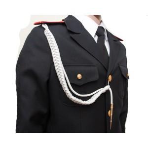 Аксельбант солдатский с 1 наконечником, белый (6-1-002)