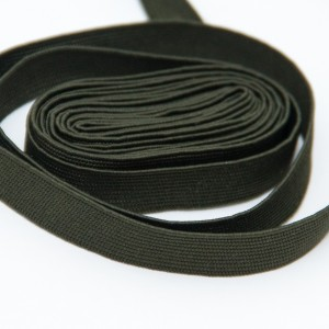 Галун шелковый, оливковый, 10мм (цена за 10см) (6-3-005)
