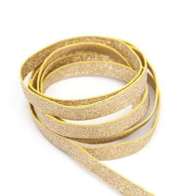 Галун металлизированный, золотой, 10 мм ( цена за 10 см) (6-3-004)