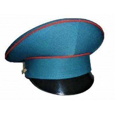 Фуражка МЧС бирюзовая с красным кантом (2-1-017)
