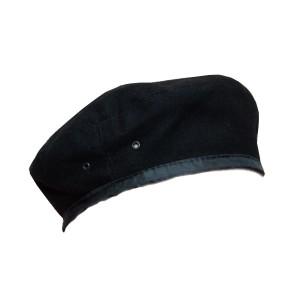 Берет суконный, черный (2-4-001)