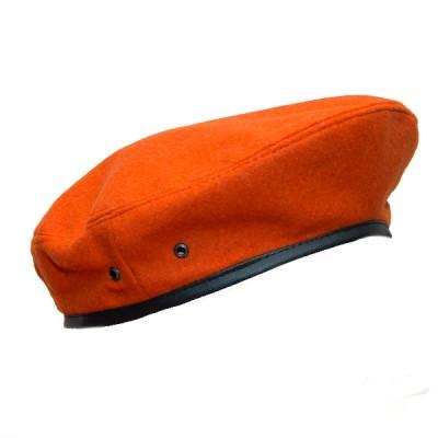 Берет суконный, ярко оранжевый (2-4-004)