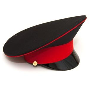 Фуражка черная с красным кантом и красным околышем (2-1-001)