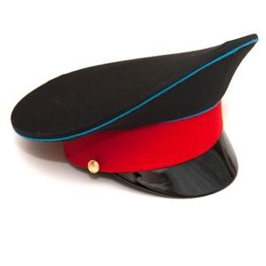 Фуражка черная с синим кантом и красным околышем (2-1-005)
