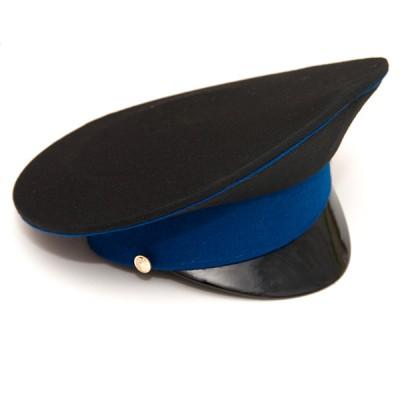 Фуражка черная с синим кантом и синим околышем (2-1-003)