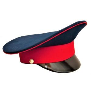 Фуражка синяя с красным кантом и красным околышем (2-1-010)