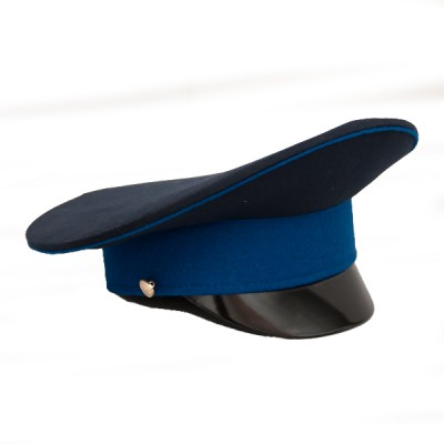 Фуражка синяя с васильковым кантом и васильковым околышем (2-1-008)