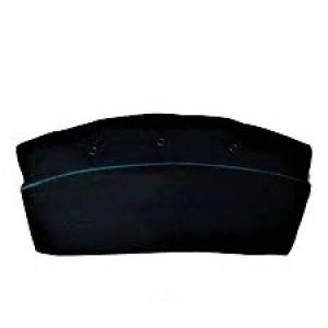 Пилотка черная с голубым кантом (2-2-009)