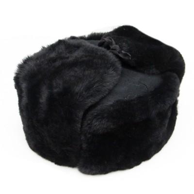 Шапка-ушанка, искусственный мех, суконное дно, черная (2-5-003)