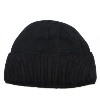 Шапка вязанная однослойная, черная (2-7-001)