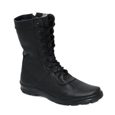 Берцы-кросс кожаные зимние с утеплителем из искусственного меха (3-1-014)