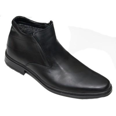 Ботинки мужские форменные зимние с утеплителем из искусственного меха (3-1-008)