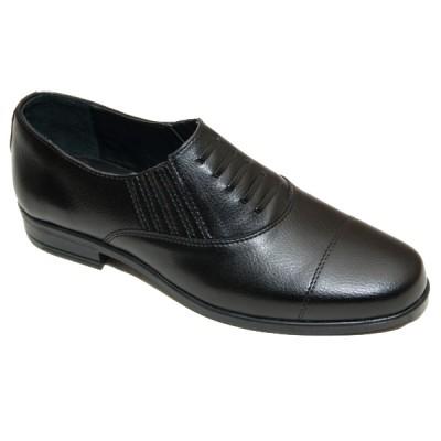 Туфли мужские форменные с имитацией шнурков (3-1-015)