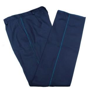 Брюки п/ш, синие с голубым кантом (1-4-005)