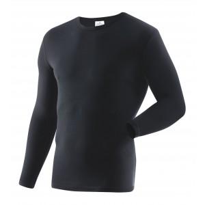 Фуфайка зимняя с длинными рукавами, черная (1-9-035)