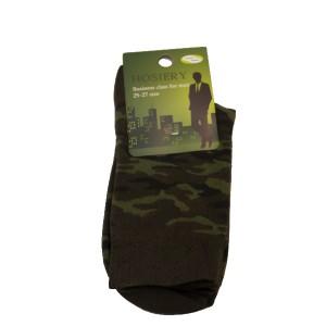 Носки камуфлированные, зеленые (1-12-012)