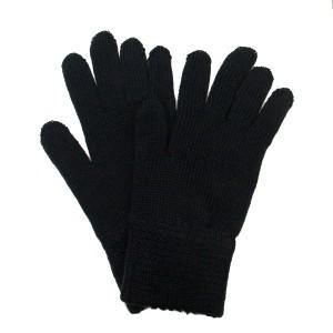 Перчатки вязанные п/ш двойные, черные (1-12-003)