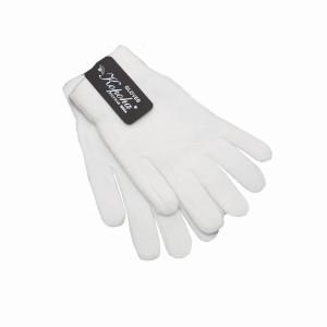 Перчатки вязанные одинарные, белые (1-12-011)