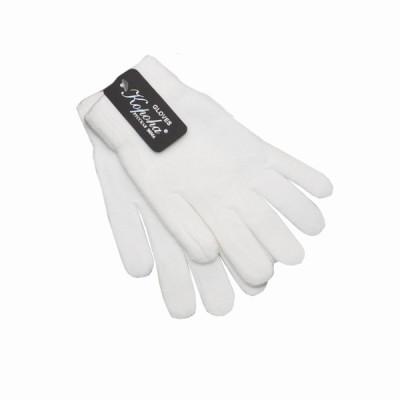 Перчатки кадетские вязанные одинарные, белые (1-12-011)