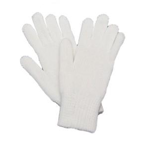Перчатки вязанные п/ш двойные, белые (1-12-002)