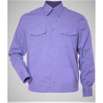 Рубашка форменная с длинными рукавами, сиреневая (1-6-012)