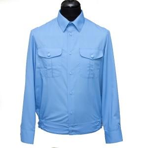 Рубашка форменная с длинными рукавами, голубая (1-6-005)