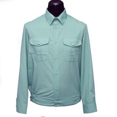 Рубашка форменная с длинными рукавами, оливковая (1-6-004)