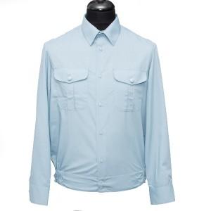 Рубашка форменная с длинными рукавами, светло-голубая (полиция) (1-6-009)