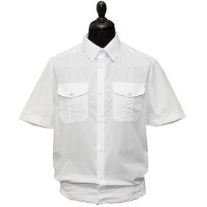Рубашка форменная с короткими рукавами, белая (1-6-006)
