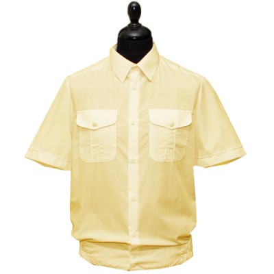 Рубашка форменная с короткими рукавами, бежевая (1-6-007)