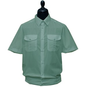 Рубашка форменная с короткими рукавами, оливковая (1-6-008)