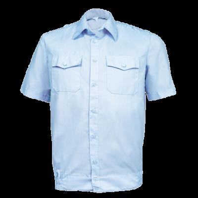 Рубашка форменная с короткими рукавами, светло-голубая (полиция) (1-6-010)
