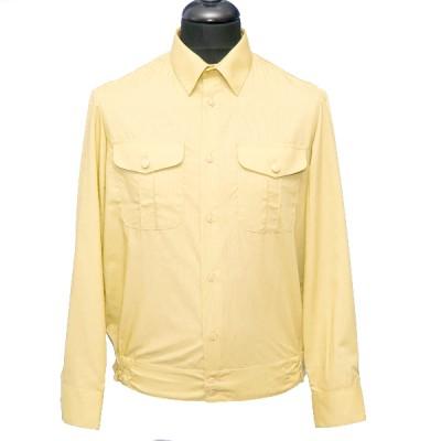 Рубашка форменная с длинными рукавами, бежевая (1-6-002)