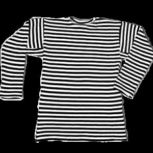Фуфайка-тельняшка с длинными рукавами, черно-белые полосы (1-9-0320)