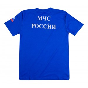 Футболка трикотажная МЧС ,синяя (1-9-025)