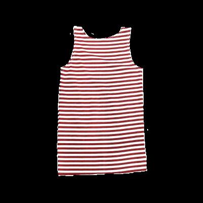 Майка-тельняшка без рукавов, краповые полосы (1-9-033)