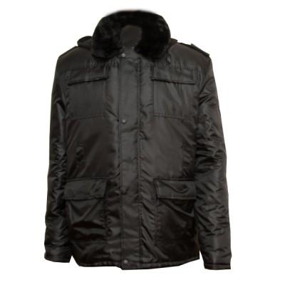 Бушлат зимний утепленный камуфлированный, черный (1-7-009)