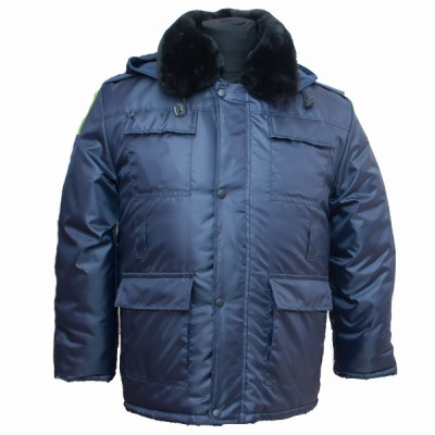 Бушлат зимний утепленный камуфлированный, темно-синий (1-7-002)