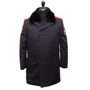 Пальто полушерстяное укороченное демисезонное, черное (1-7-004)