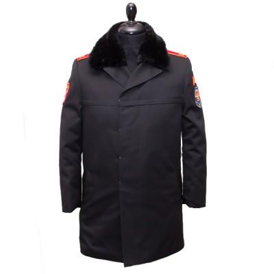 Пальто кадетское демисезонное, черное (1-7-004)