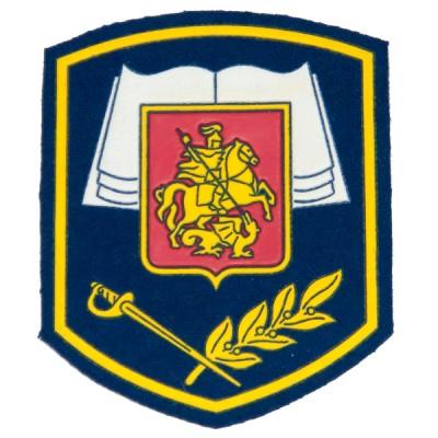 """Нарукавный знак """"Кадетское образование Москвы"""", вышивка, синий (7-2-005)"""