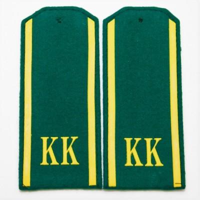 Погоны КК, 14 см, пластизоль, зеленые (7-1-003)