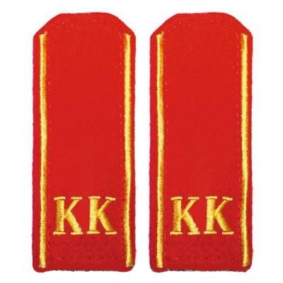 Погоны КК, 14 см, вышивка, красные (7-1-001)