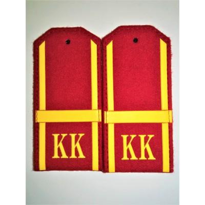 Погоны КК Ефрейтор 1 лычка, красное сукно (7-1-061)