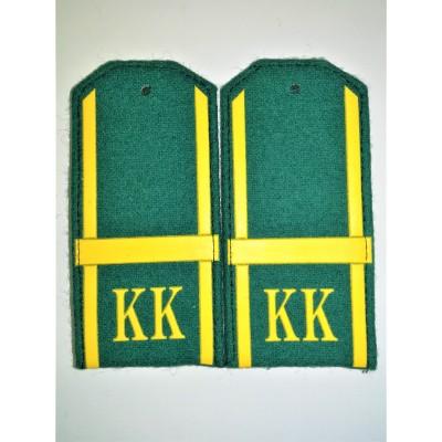 Погоны КК Ефрейтор 1 лычка, зеленое сукно (7-1-069)
