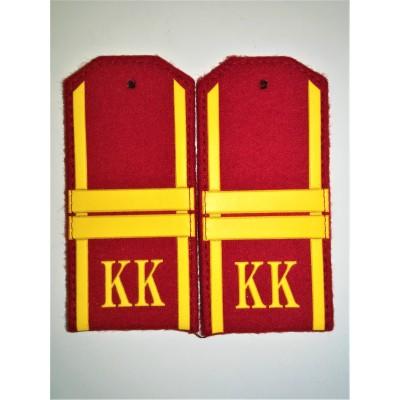 Погоны КК Мл. Сержант 2 лычки, красное сукно (7-1-062)