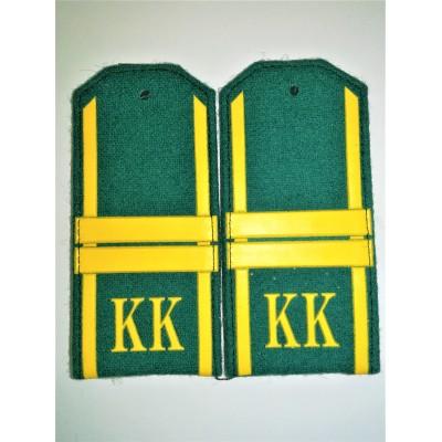 Погоны КК Мл.Сержант 2 лычки, зеленое сукно (7-1-070)