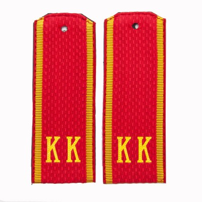 Погоны КК, рифленая ткань, красные (7-1-017)