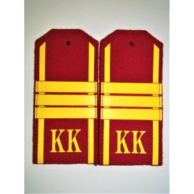 Погоны КК Сержант 3 лычки, красное сукно (7-1-063)